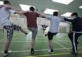 Студенты Российского университета дружбы народов во время занятий на факультете физического воспитания РУДН