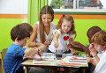 Урок рисования в детском саду