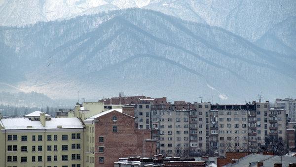 Вид города Владикавказа. Архивное фото.