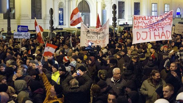 Акция Pegida в Вене. Архивное фото