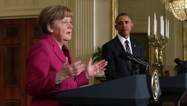 Канцлер Германии Ангела Меркель и президент США Барак Обама. Архивное фото
