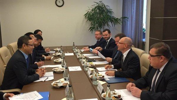 Встреча гендиректора Росатома Сергея Кириенко и главы CNNC Цянь Чжиминя