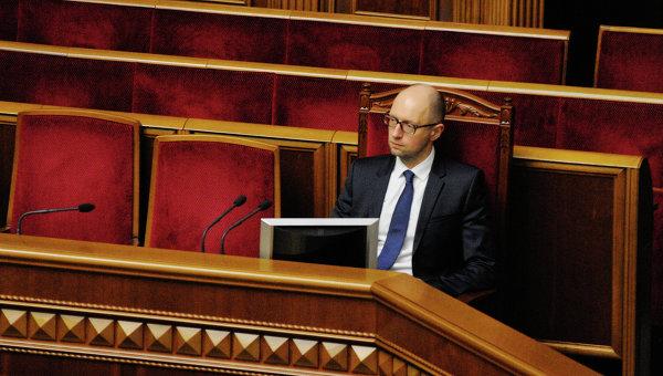 Премьер-министр Украины Арсений Яценюк в Раде. Архивное фото