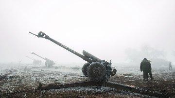 Ополченцы Донецкой народной республики в окрестностях Дебальцево Донецкой области.Архивное фото