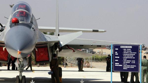 Истребитель Су-30 МКИ ВВС Индии. Архивное фото