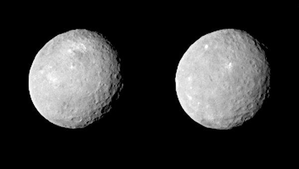 Новые фотографии карликовой планеты Церера, сделанные американским зондом Dawn