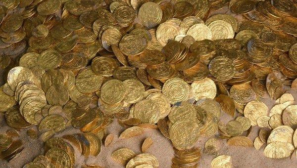 Самый большой в истории Израиля клад золотых монет