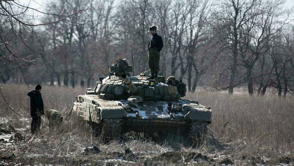 Ополченцы ДНР возле Дебальцево 18 февраля 2015