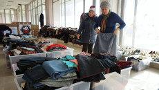 Украинские беженцы в Центре гуманитарной помощи в Ростове-на-Дону. Архивное фото