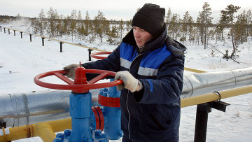 Газопровод компании Газпром у поселка Вынгаяхинский. Архивное фото