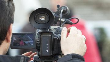 Оператор с камерой, архивное фото