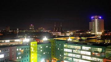 Вид города Ганновер, Германия. Архивное фото