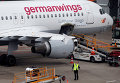 Самолет Airbus A320 авиакомпании Germanwings в аэропорту Дюссельдорфа