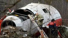 Обломки самолета польского президента Леха Качиньского, архивное фото