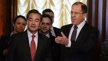 Министр иностранных дел России Сергей Лавров и министр иностранных дел Китая Ван И. Архивное фото