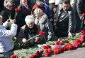 Участники праздничных мероприятий, посвященных годовщине освобождения Одессы от немецко-фашистских захватчиков 10-го апреля в Одессе
