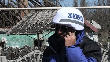 Представители ОБСЕ в Донецкой области. Архивное фото