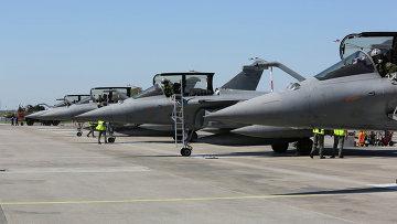 Многоцелевые истребители ВВС Франции Dassault Rafale. Архивное фото