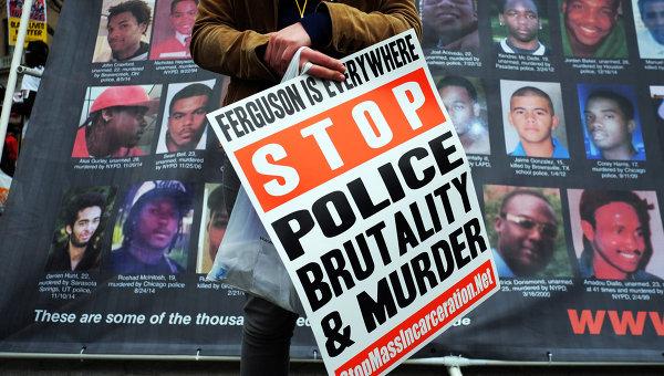 Демонстрация в Нью-Йорке против полицейского насилия