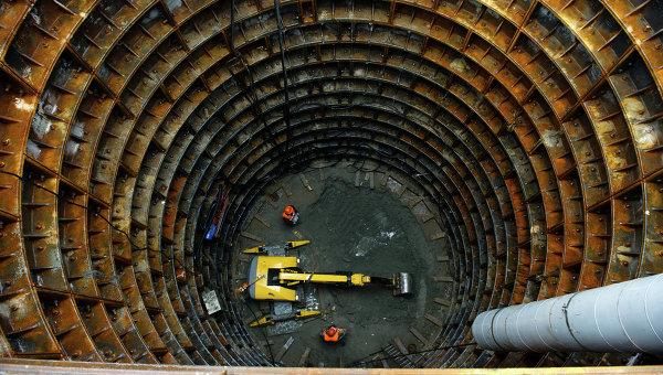 Строительство станции метро Селигерская Люблинско-Дмитровской линии. Архивное фото