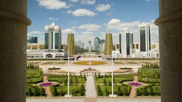 Вид на президентский дворец, Астана. Архивное фото