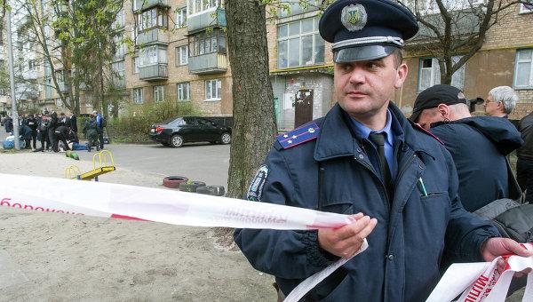 На месте убийства журналиста Олеся Бузины в Киеве