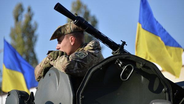 Украинский военнослужащий