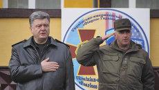 Порошенко дал старт украинско-американским военным учениям под Львовом