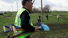 Эксперты из Нидерландов и Малайзии на месте крушения Боинга в Донецкой области