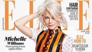Американская актриса Мишель Уильямс на обложке апрельского выпуска ELLE UK