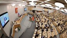 Пленарное заседание Госдумы России.  Архивное фото