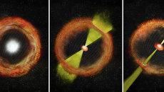 Один из вариантов появления аномалий в момент рождения гамма-вспышки
