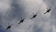 Ударные вертолеты Ми-35. Архивное фото