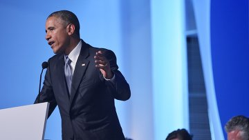 Выступление Барака Обамы. Архивное фото