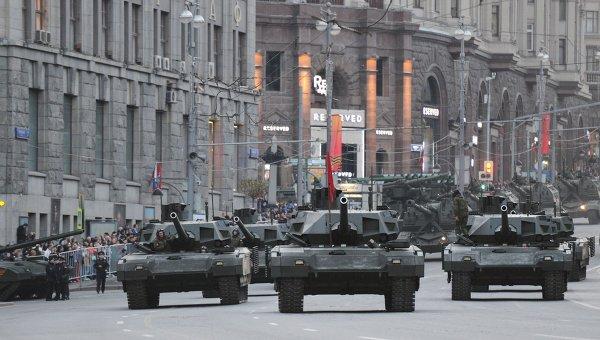 Репетиция военного парада в Москве. Архивное фото