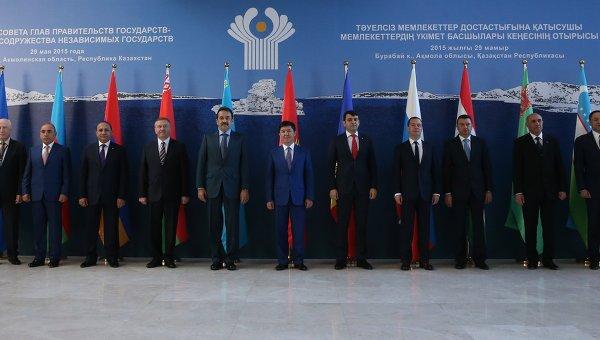 Премьер-министр РФ Д.Медведев принимает участие в заседаниях Совета глав правительств СНГ и ЕАЭС в Казахстане