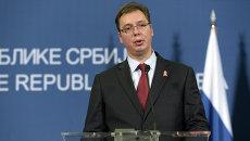 Председатель правительства Республики Сербия Александр Вучич. Архивное фото