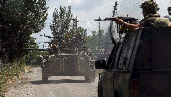 Войска ВСУ возле города Марьинка