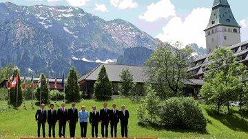 Встреча лидеров Большой семерки в баварском замке Эльмау на юге Германии