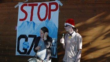 Акция протеста против саммита G-7 в Гармиш-Партенкирхене