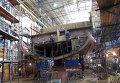 Рабочие на Средне-Невском судостроительном заводе