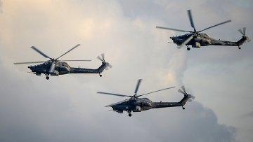 Вертолеты Ми-28Н. Архивное фото