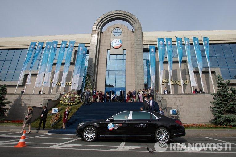 Участники прибывают на XIX Петербургский международный экономический форум