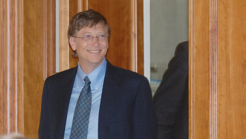 Б.Гейтс во время визита в Москву