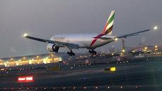 Самолет авиакомпании Emirates. Архивное фото