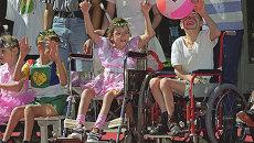 Дети-инвалиды. Архивное фото