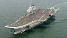 Китайский авианосец Ляонин. Архивное фото