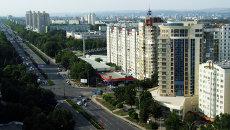 Вид на одну из улиц Кишинева, Молдавия