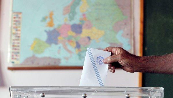 Голосование на референдуме в Греции