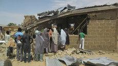 Последствия взрыва в церкви города Потискум, Нигерия. Архивное фото